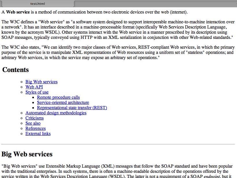 Hook into Wikipedia using Java and the MediaWiki API